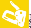 Vector Clipart graphic  of a staple gun
