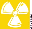 Vector Clip Art graphic  of a radioactive sign