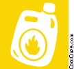 Vector Clipart image  of a flammable liquid