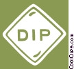 Vector Clip Art graphic  of a dip sign