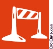 Vector Clipart picture  of a traffic barrier