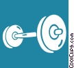 Vector Clipart graphic  of a barbell