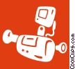 Vector Clipart image  of a home video camera
