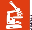 Vector Clipart illustration  of a microscope