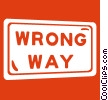 road sign, wrong way Vector Clip Art image