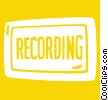 Vector Clipart picture  of a recording sign