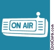 on air sign Vector Clipart graphic