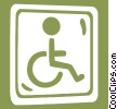 Vector Clip Art image  of a handicap sign