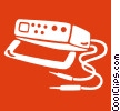 Vector Clipart illustration  of a cb radio