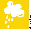 clouds with rain Vector Clipart picture