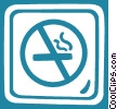 Vector Clipart picture  of a no smoking sign