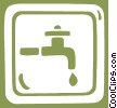 running water sign Vector Clipart illustration
