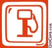 gas sign Vector Clip Art picture