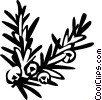 Vector Clipart image  of a juniper