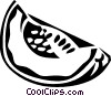 Vector Clip Art graphic  of a melon slice