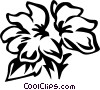 Vector Clip Art image  of a crossandra
