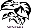 Vector Clip Art graphic  of a philodendron