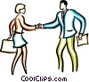 man and woman shaking hands Vector Clipart illustration