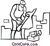 Vector Clip Art picture  of a managers/foremen
