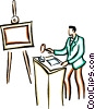 art dealer Vector Clipart graphic