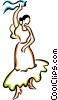 Vector Clip Art image  of a Spanish dancer