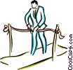 Vector Clipart image  of a man cutting a ribbon