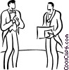 man receiving an award Vector Clipart image