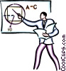 Vector Clipart image  of a teaching in the classroom
