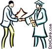 graduation day Vector Clipart illustration