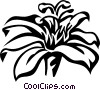 Vector Clip Art graphic  of a passion flower