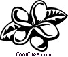 Plumeria Vector Clipart graphic