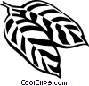buckhorn leaf Vector Clip Art graphic