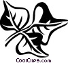 Vector Clipart graphic  of a coral bean
