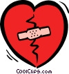 broken heart Vector Clipart picture