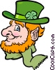 Vector Clip Art picture  of a leprechaun head