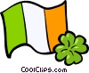 Vector Clip Art picture  of a Ireland flag