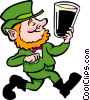 Leprechaun with beer Vector Clipart illustration