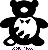 Vector Clip Art picture  of a teddy bear