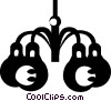 Vector Clipart illustration  of a chandeliers