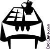 kitchen table Vector Clipart illustration