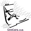 Vector Clipart image  of a ski boot