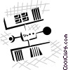 Vector Clipart picture  of a satellite