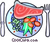 Vector Clipart graphic  of a Seafood meal
