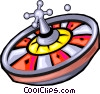 Vector Clipart picture  of a roulette wheel