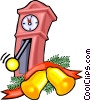 Vector Clip Art graphic  of a grandfather clock with