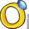 diamond ring Vector Clip Art image