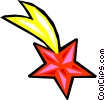 Vector Clipart graphic  of a shooting stars