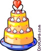 Vector Clipart graphic  of a Wedding cakes