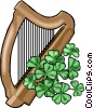 Vector Clip Art graphic  of a harp