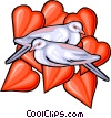 love birds Vector Clipart illustration